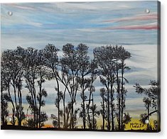 Acrylic Print featuring the painting A Treeline Silhouette by Marilyn  McNish