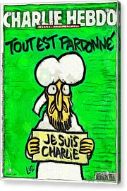 A Tribute For Charlie Hebdo - Da Acrylic Print