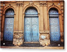 A Trio Of Doors In Valencia Spain Acrylic Print by Carol Japp