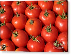 A Trip Through The Farmers Market With Red Tomatoes Acrylic Print by Michael Ledray