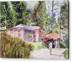 A Tropical Home Acrylic Print