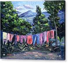 A Tropical Landscape Acrylic Print