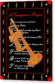 A Trumpeters Prayer_1 Acrylic Print by Joe Greenidge