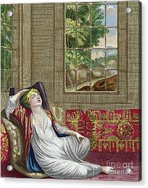 A Turkish Woman Acrylic Print by Gerard Jean Baptiste Scotin