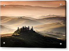 A Tuscan Country Landscape Acrylic Print by Sus Bogaerts