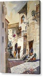 A Tuscan Street Scene Acrylic Print