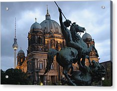 A Twilight View Of The Berlin Cathedral Acrylic Print by Jim Webb