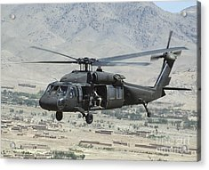 A Uh-60 Blackhawk Helicopter Acrylic Print by Stocktrek Images