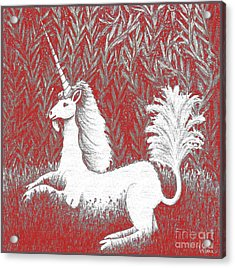 A Unicorn In Moonlight Tapestry Acrylic Print
