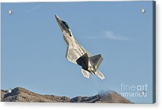 A U.s. Air Force F-22 Raptor Takes Acrylic Print by Giovanni Colla