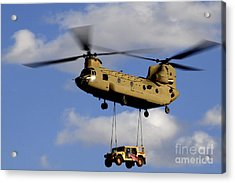A U.s. Army Ch-47 Chinook Helicopter Acrylic Print by Stocktrek Images