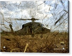 A U.s. Navy Hh-60 Seahawk Stirs Acrylic Print by Stocktrek Images