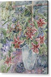 A Vase Of Lilies Acrylic Print