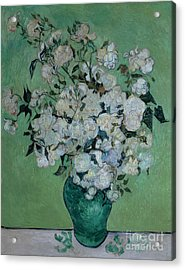 A Vase Of Roses Acrylic Print by Vincent van Gogh