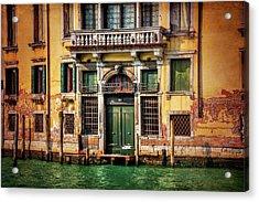 A Venetian Door  Acrylic Print