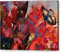A Very Fairy Tale Of Two Butterflies In Pearlesque Acrylic Print