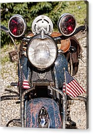 A Very Old Indian Harley-davidson Acrylic Print