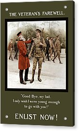 A Veteran's Farewell - Ww1 Acrylic Print by War Is Hell Store