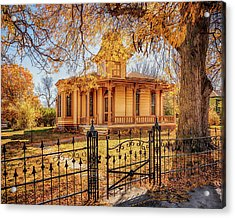 Acrylic Print featuring the photograph A Victorian Autumn by Susan Rissi Tregoning