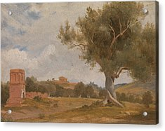 A View At Girgenti In Sicily With The Temple Of Concord And Juno Acrylic Print