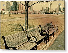 A View From A Park Bench Acrylic Print by JAMART Photography
