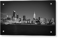 A View From Across The Hudson Acrylic Print by Eduard Moldoveanu