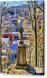 Acrylic Print featuring the photograph A View From College Hill by DJ Florek