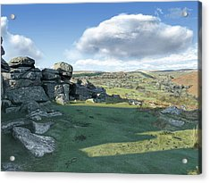 A View From Combestone Tor Acrylic Print