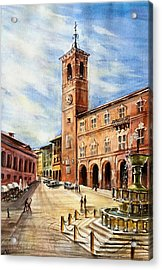 A View From Fabriano Acrylic Print