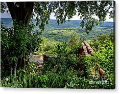 A View From Groznjan Of The Istrian Hill Town Countryside, Istria, Croatia Acrylic Print