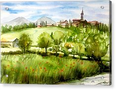 A View From Tuscany Acrylic Print