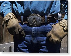 A View Of A Cowboys Prized Possesion Acrylic Print by Taylor S. Kennedy
