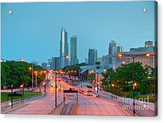A View Of Columbus Drive In Chicago Acrylic Print