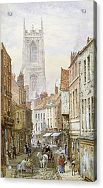 A View Of Irongate Acrylic Print by Louise J Rayner