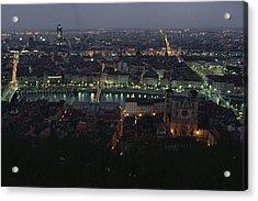 A View Of Lyon Between The Pont De La Acrylic Print by James L. Stanfield