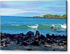 A View Of Maui From Wailea Bay Acrylic Print