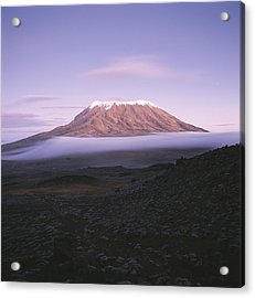 A View Of Snow-capped Mount Kilimanjaro Acrylic Print
