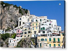 A View Of The Adratic Sea Acrylic Print by Allan Levin