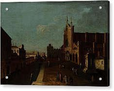 A View Of The Campo Di San Giovanni E Paolo Acrylic Print by Canaletto