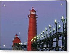 A View Of The Grand Haven Lighthouse Acrylic Print by Ira Block