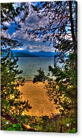A View Of The Lake Acrylic Print by David Patterson