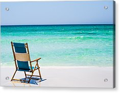 A View Of The Ocean Acrylic Print by Shelby  Young