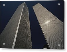 A View Of The Twin Towers Of The World Acrylic Print by Roy Gumpel