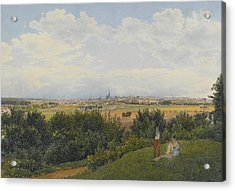 A View Of Vienna From The Prater With Figures In The Foreground Acrylic Print by Rudolph von Alt