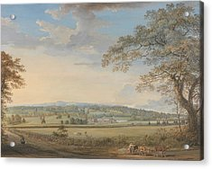 A View Of Vinters At Boxley, Kent, With Mr. Whatman's Turkey Paper Mills Acrylic Print by Paul Sandby