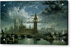A View Of Westminster Abbey And The Houses Of Parliament Acrylic Print