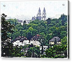 A View Of Wiesbaden Acrylic Print by Sarah Loft