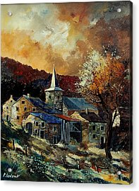 A Village In Autumn Acrylic Print by Pol Ledent