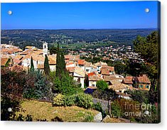 Acrylic Print featuring the photograph A Village In Provence by Olivier Le Queinec