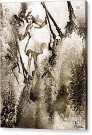 A Vision Softly Creeping Acrylic Print by Rick Moore